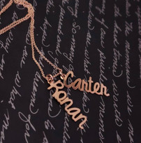Charlotte Style  Family Pendant  Charm Necklace