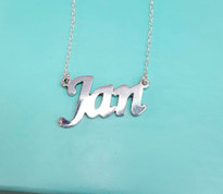 Silver Name Necklace Ashlyn Style