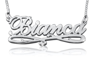 Bianca Style Name Necklace, Name Necklace with Motif