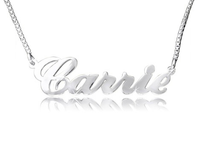 Carrie Name Necklace Silver