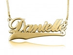 Danielle Gold Plated Name Necklace