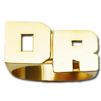 10 mm Initials Name Ring