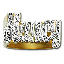12 mm Diamond Name Ring Nancy Style