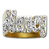 12 mm Diamond Name Ring Nancy Style