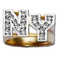 12 mm Diamond Initials Ring NY