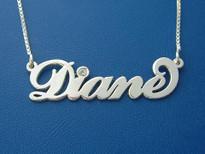 Diane Name Necklace with Swarovski Crystal Birthstone
