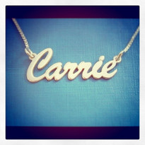 Soho or Brush Style Silver Name Necklace