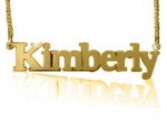 Kimberly Gold Plated Name Necklace