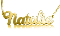 Gold Name Necklace Natalie Style