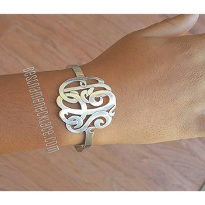 Interlocking Monogram Cuff