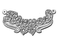Bianca Style Name Necklace with Diamonds