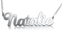 Natalie Style Silver Name Necklace