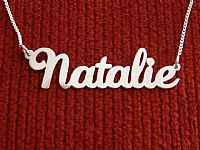 Personalized nameplate necklace, special gift