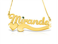 Nicole Gold Plated Name Necklace with Swarovski Element