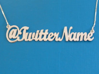 As Featured on: The Ricki Lake Show-Twitter Name Necklace in silver