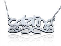 Catalina Graffiti Name Necklace by BestNameNecklace.com
