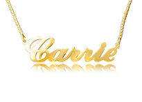 Carrie No Curl Name Necklace