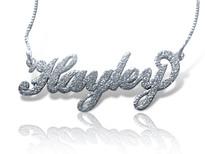 sparkling name necklace silver