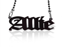 Old English Acrylic Name Necklace