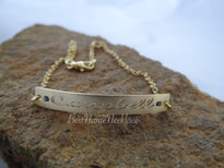 Engraved Bracelet ID Bar