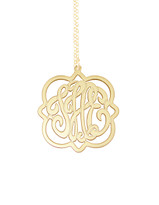 Geometric Monogram Necklace