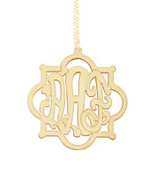 Souther Flower Monogram Necklace