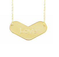 Engraved Amour Necklace