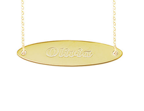 Engraved NamePlate Surf Style Name Plate Bar