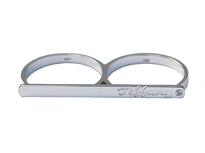 Two finger Engraved Bar Ring