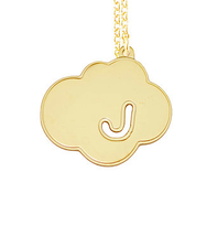 Cloud Initial Pendant Necklace