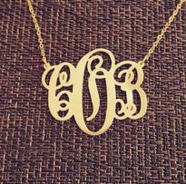 Monogram Necklace Classic Script Style