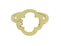 Trendy Cross Birthstone Ring
