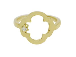 Trendy Cross Birthstone Ring