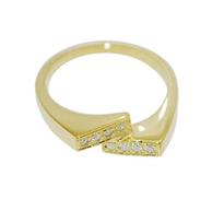 Broken Line Birthstone Ring