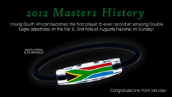 2012 Masters: Historical Double-Eagle with our South Africa Bracelet