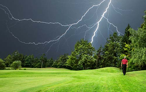 Look Out for Lightning on the Golf Course