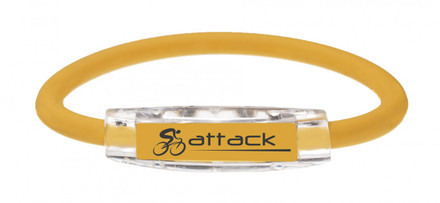IonLoop Yellow Attack Cycling Bracelet (front view)