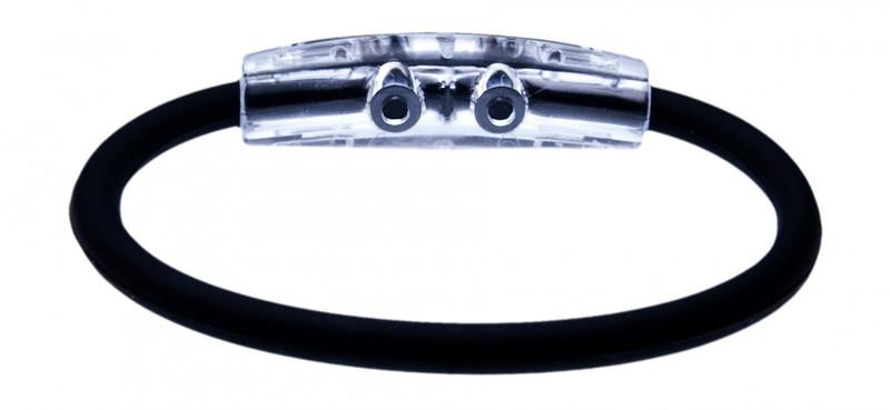 IonLoop Black Cycling Bracelet (back view)
