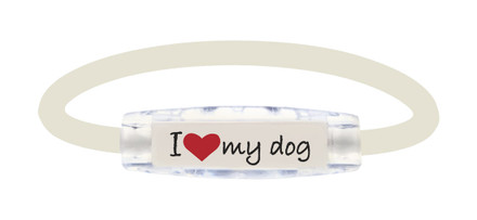 Ionloop I Love My Dog Bracelet (font view)