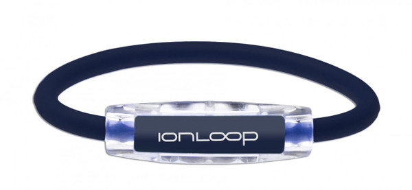 IonLoop Navy Blue Ion Magnetic Bracelet (front view)