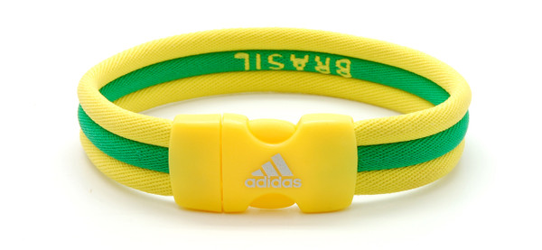 adidas Olympic Brazil Ionic Bracelet (back view)