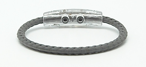 Gray Braided Magnetic Bracelet - Back View