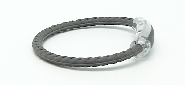 Gray Braided Magnetic Bracelet - Side View