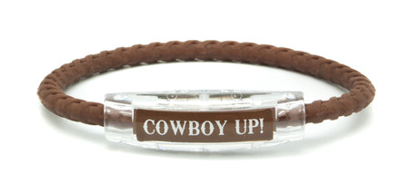 Cowboy Up Brown Braided Bracelet