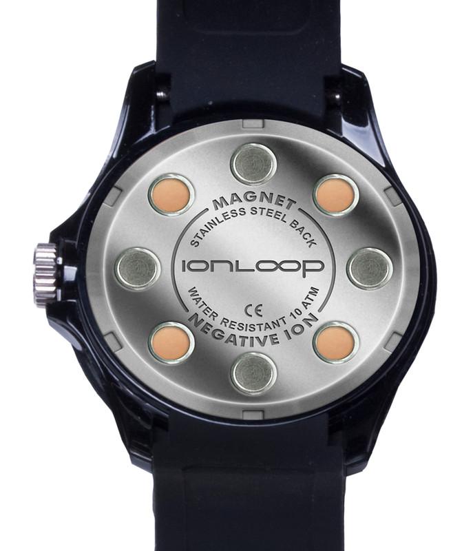 Black Unisex IonTime Sport Wrist Watch (Back)