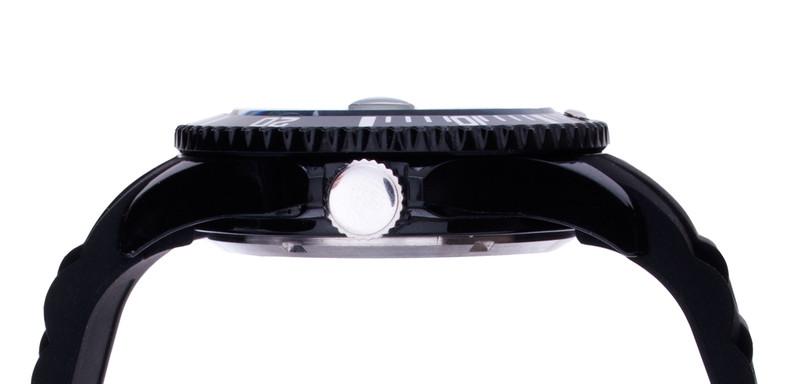 Black Unisex IonTime Sport Wrist Watch (Side)