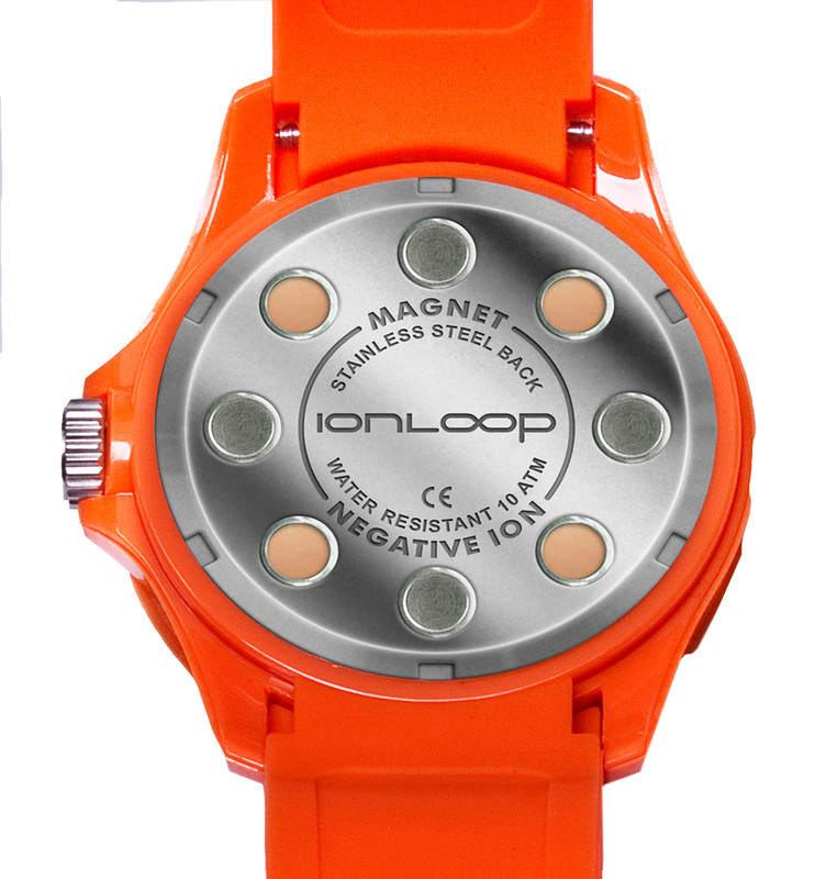 Orange Unisex IonTime Sport Wrist Watch (Back)