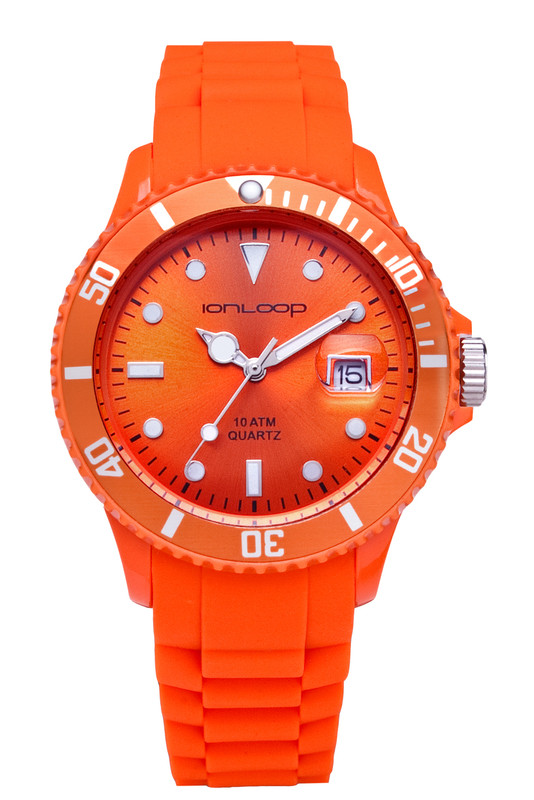 Orange Unisex IonTime Sport Wrist Watch (Front)