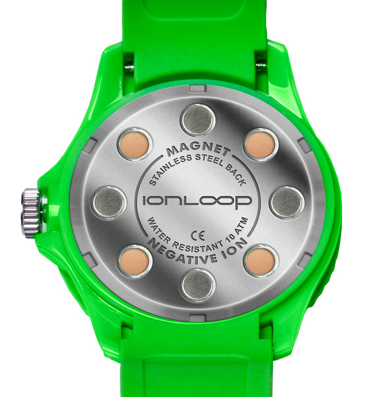 Green Unisex IonTime Sport Wrist Watch (Back)