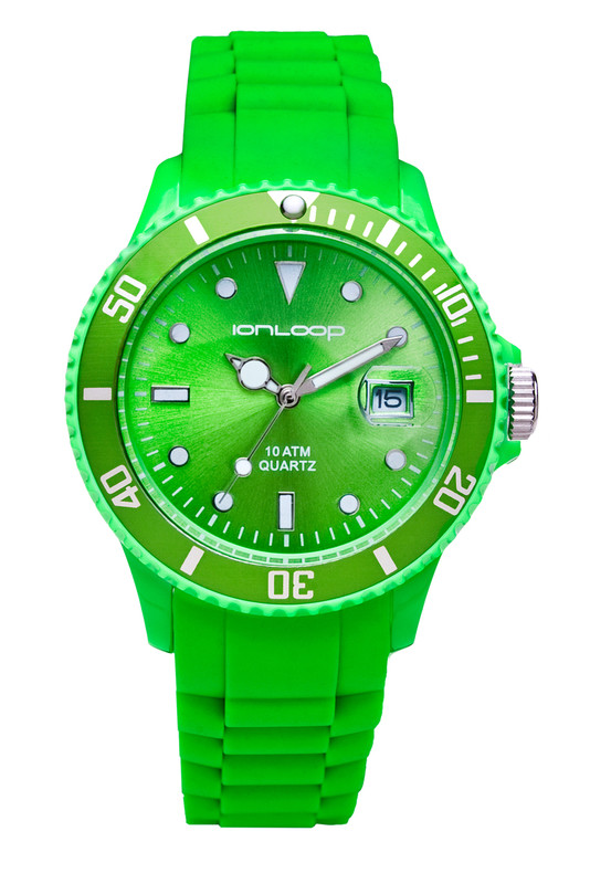 Green Unisex IonTime Sport Wrist Watch (Front)